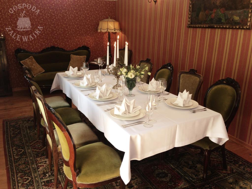 kameralne imprezy, spotkania biznesowe, romantyczne kolacje